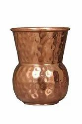 Round Hammered 300 ml Copper Traditional Glass for Home
