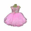 Kids Designer Pink Frock
