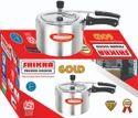 Shikha Aluminium 2 Liter Aluminum Pressure Cooker Gold, For Home, Packaging Type: Box