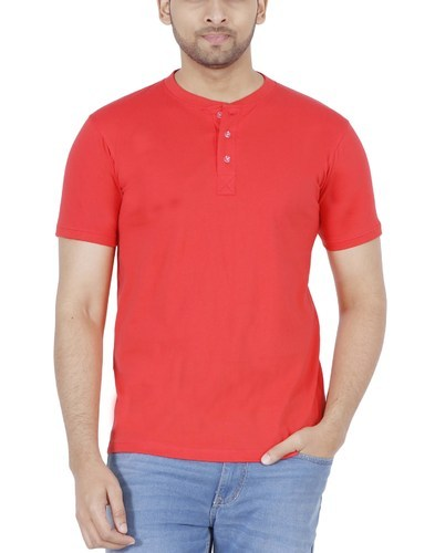 553b44801bb Enharid-Round-Neck-Red-Color. Men Coral Red T-Shirt