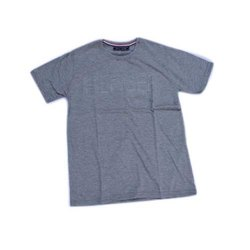Cotton Plain Mens Round Neck Pique T Shirt, Packaging Type: Packet
