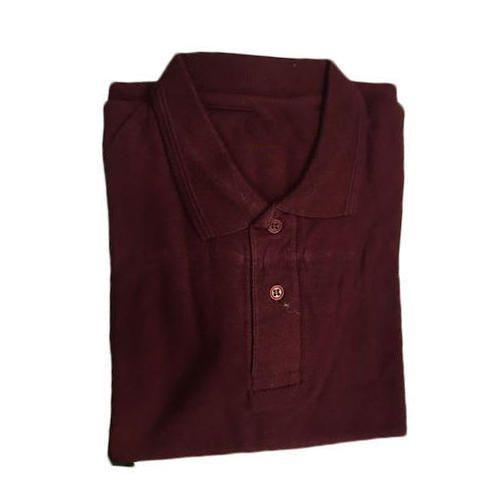 bcd9a029 Men's Cotton Maroon Plain Polo T Shirt, Size: S-XXL, Rs 180 /piece ...