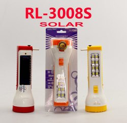 RL-3008S Rock Light Solar Rechargeable Torch With Side Light