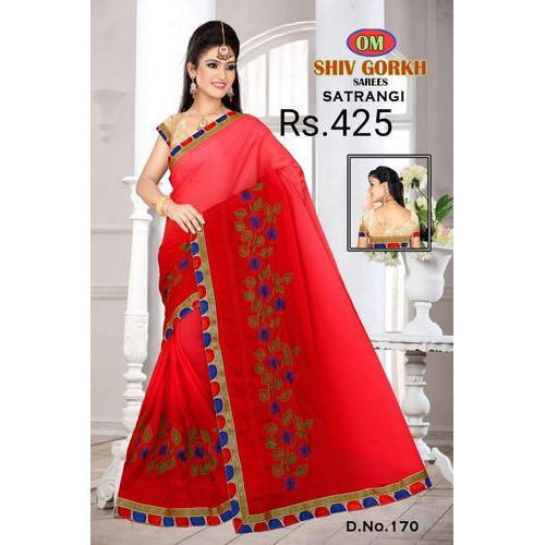 d17b79b65b Ladies Saree - Designer Batter Silk Saree Manufacturer from Surat