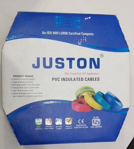 JUSTON 2.4 To5.0 PVC Wire, Insulation Thickness: 0.7