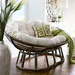 Brown Papasan Folding Sofa