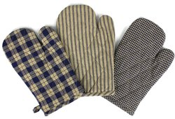 Yarn Dyed Cotton Wadding Oven Mitts
