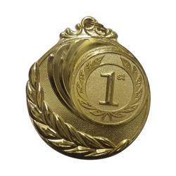 Embossed Gold Plated Medal