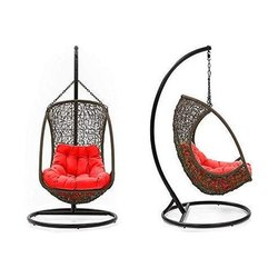 Universal Furniture Brown Swing Chair with Cushion and Hook