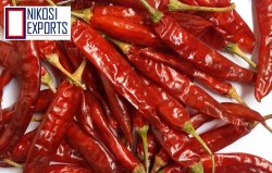 RED NIKOSI Guntur Sannam Grate Dry Chilly, Minimum Order Quantity: 1000KG