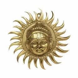 Sun in Golden Metal
