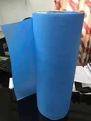 Blue 17/18'' Disposable Couch Medical Crepe Paper Roll