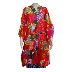 Floral Printed Bathrobe