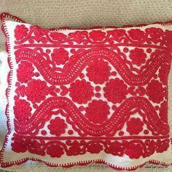Vintage Embroidered Cushion Cover