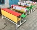 Classroom Desk 3 Seater With Printed Back