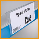 Acrylic Shelf Price Tag Holder
