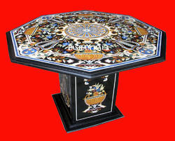 Italian Inlay Marble Table