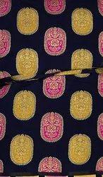 ART SILK Party Wear Banarasi Jacquard Fabric, GSM: 150-200