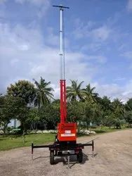 Steel Round Mobile Light Towers Generators, For Outdoor