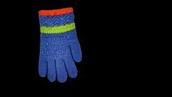 Soft Light Blue Woolen Gloves