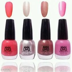 Makeup Mania Nail Polish Combo Of 4, Type Of Packaging: Bottle