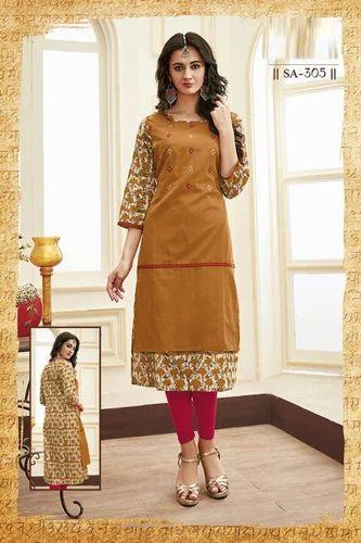 ae6c2947e3 Designer Kurti - S4U Brand Cotton Kurtis Manufacturer from Surat