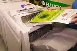 Paper multicolour xerox copy service