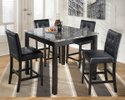 Black Square Dining Table Set, For Home And Hotels
