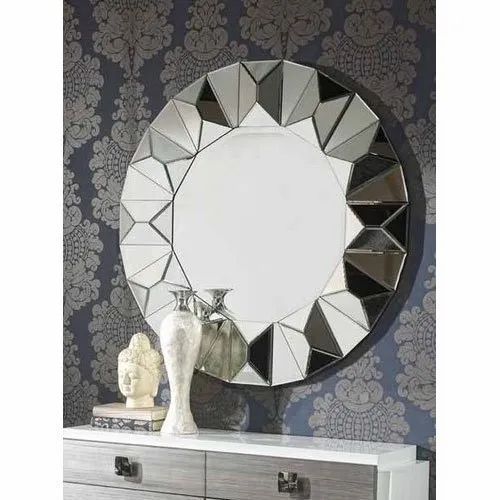 Silver Solace Modern Round Wall Mirror Packaging Type Plywood Crate Rs 12500 Piece Id 21486791873