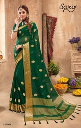 Fancy Designer Silk Chiffon Saree