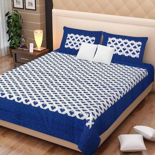 Cotton Stylish Double Bed Sheet For, What Size Is A Double Bed Sheet In Inches