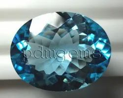 Sky Blue Topaz Faceted Oval Gemstone