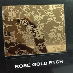 Rose Gold Etch Designer Sheet