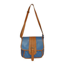 Spice Art Blue And Tan PU Sling Bag