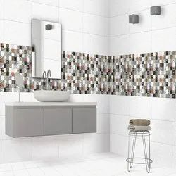Gloss Designer Bathroom Wall Tiles, Thickness: 9 mm, Size: 12 x 18 Inch