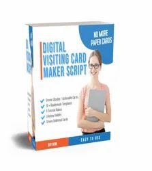 Digital Visiting Card Maker Script