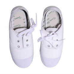 White Kids School Shoes