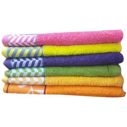 Cotton Dobby Border Soft Hand Towel, Size: 30x60 Inch