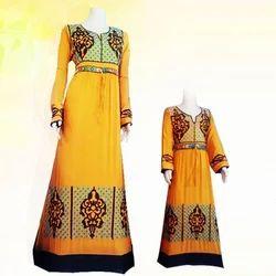 Lycra Cotton Ladies Jalabiya Suit