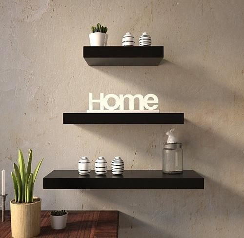 Decorative Wooden Wall Shelf Home Decor
