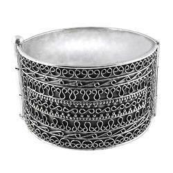 Big Royal Handmade 925 Sterling Silver Bangle