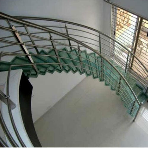 Curved Glass Stair Railings