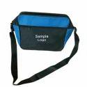 Abc Black And Blue Zipper Sling Bag