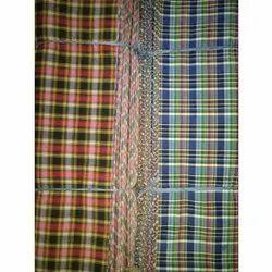 H.Tex Check Fancy Shirting Fabrics, Handwash