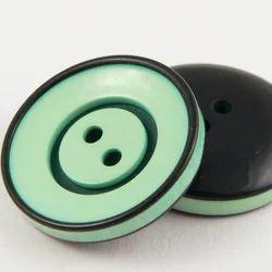 Round Green Coat Button