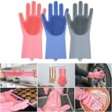 Magic Silicone Scrubbing Hand Gloves