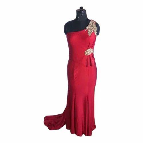 291fe4671a Red Party Wear Ladies Western Dress