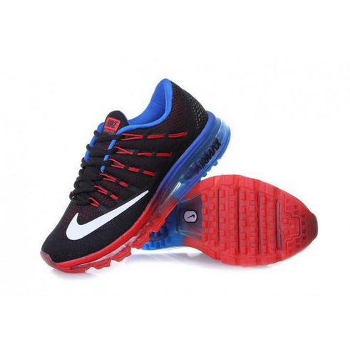 Nike Air Max 2016 Black Red Blue Running Imported Sport Shoe