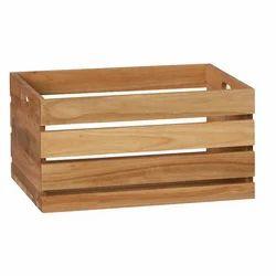 Wood Rectangle Eucalyptus Storage Box