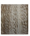 Hand Spun Jute Yarn 2 Ply Gray and Bleach Blended